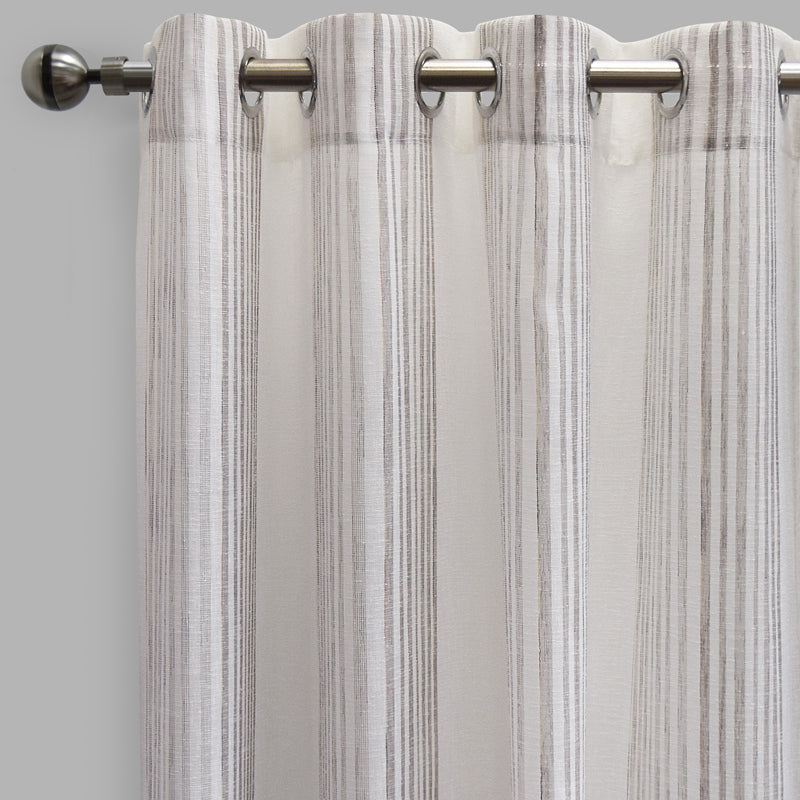 Morro Set of 2 Sheer Curtain Panels | Size 54X96 | Color Mocha