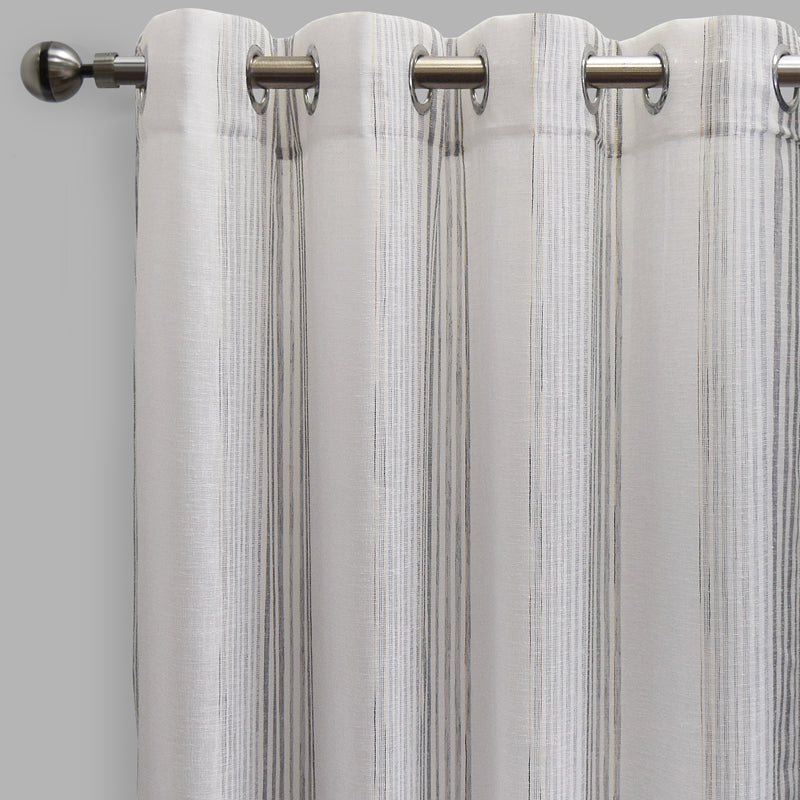 Morro Set of 2 Sheer Curtain Panels | Size 54X96 | Color Silver