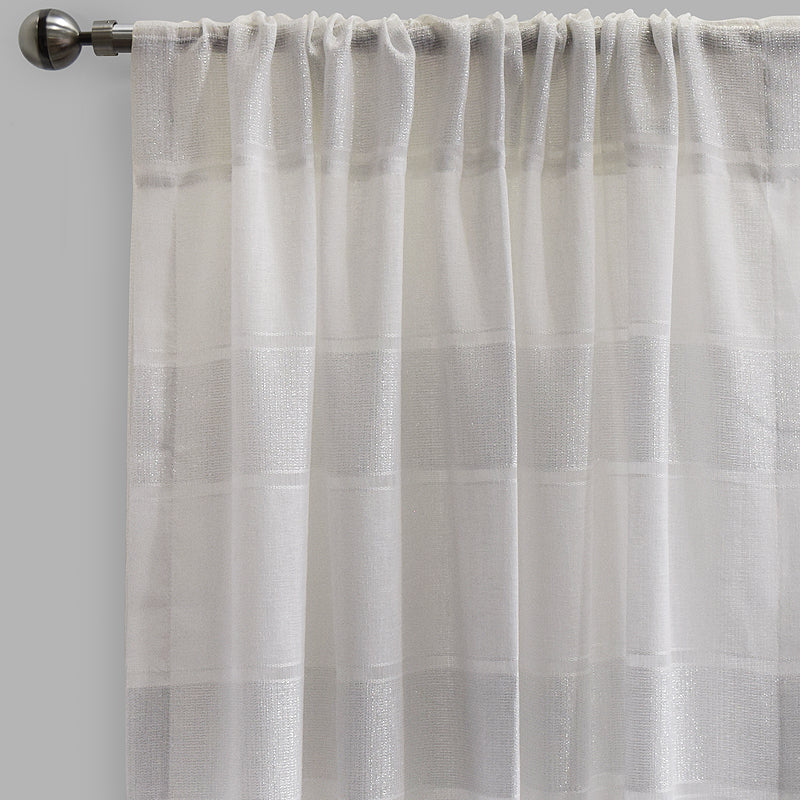 Odessa Set of 2 Sheer Curtain Panels | Size 54X96 | Color White