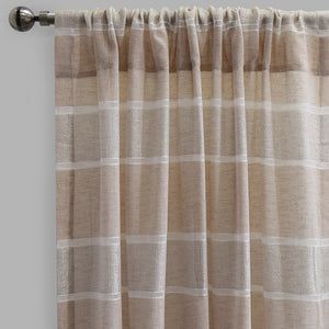 Odessa Set of 2 Sheer Curtain Panels | Size 54X96 | Color Natural