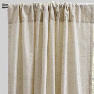 Pixie Set of 2 Metallic Linen Curtain Panel | Size 54X96 | Color Silver