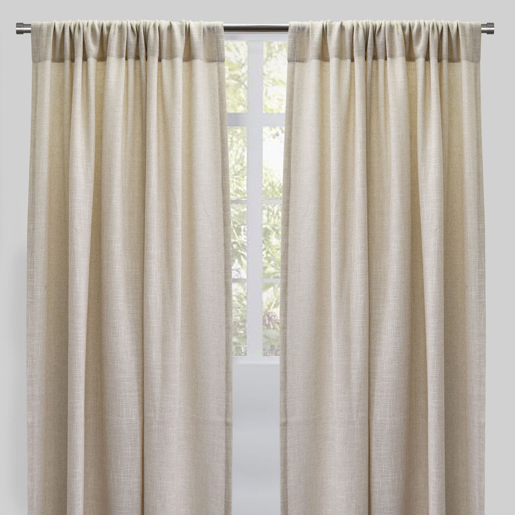 Rebel Set of 2 Sheer Curtain Panels | Size 54X96 | Color Linen