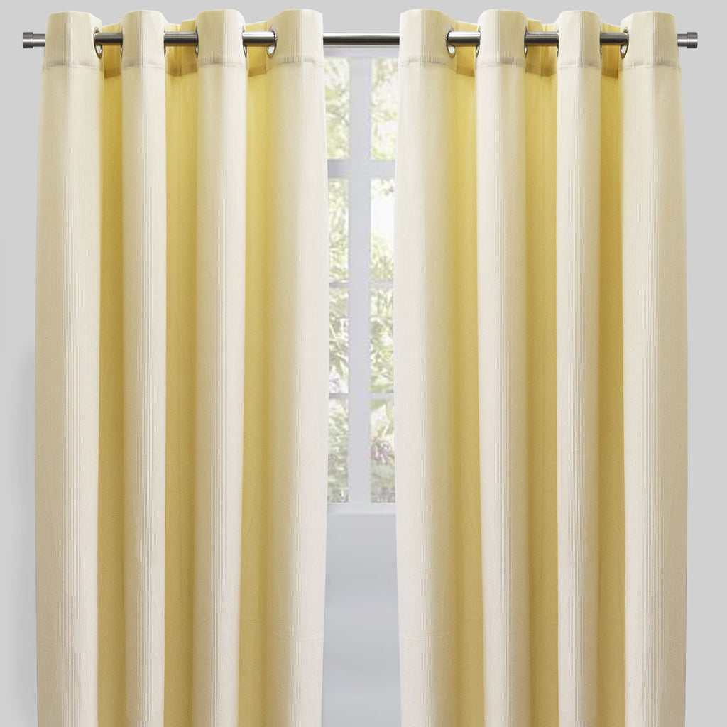 Rory Set of 2 Corduroy Curtain Panels | Size 54X96 | Color Ivory