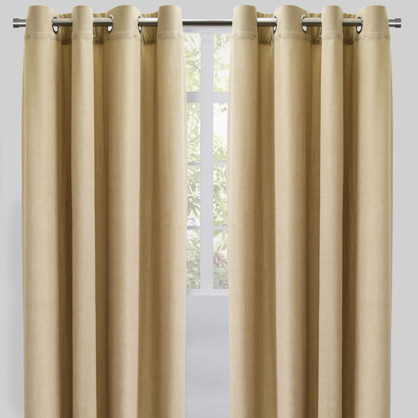 Rory Set Of 2 Corduroy Curtain Panels Size 54x96 Color