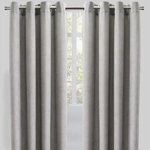 Rory Set of 2 Corduroy Curtain Panels | Size 54X96 | Color Silver