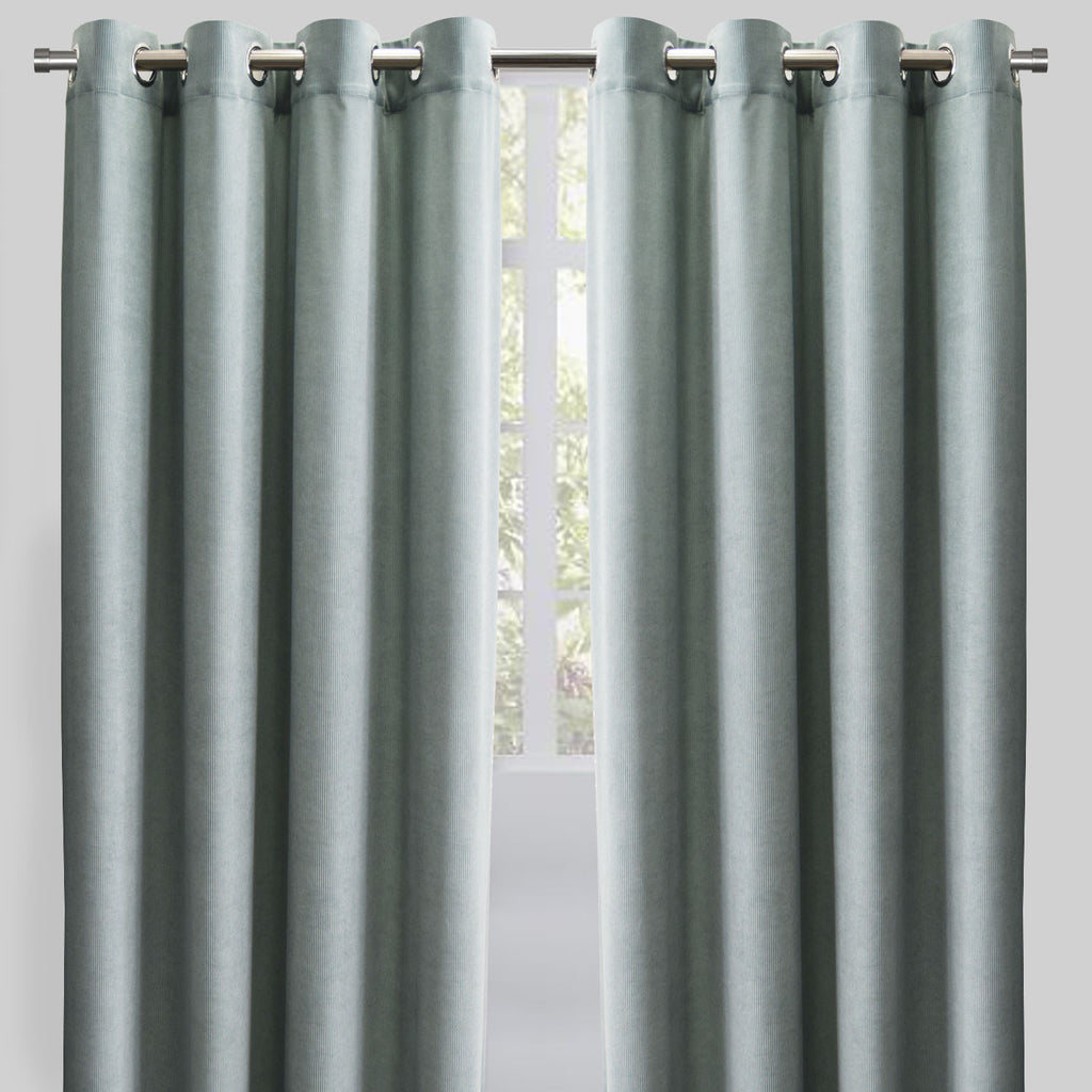 Rory Set of 2 Corduroy Curtain Panels | Size 54X96 | Color Spa