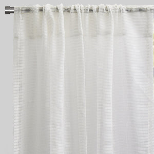 Ruby Set of 2 Sheer Curtain Panels | Size 54X96 | Color White