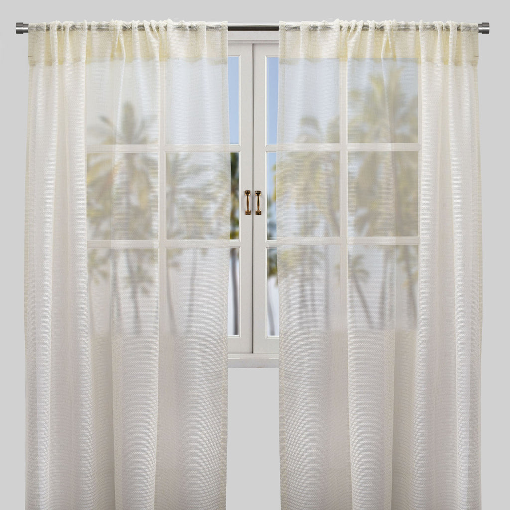 Ruby Set of 2 Sheer Curtain Panels | Size 54X96 | Color Natural