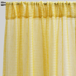 Ruby Set of 2 Sheer Curtain Panels | Size 54X96 | Color Sunshine