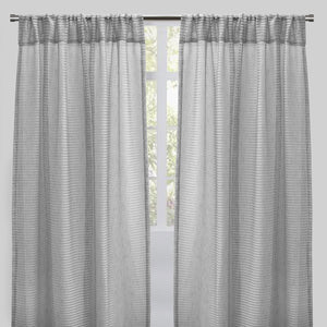 Ruby Set of 2 Sheer Curtain Panels | Size 54X96 | Color Gray