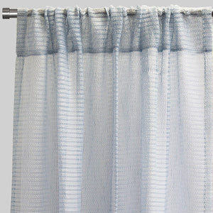 Ruby Set of 2 Sheer Curtain Panels | Size 54X96 | Color Sky