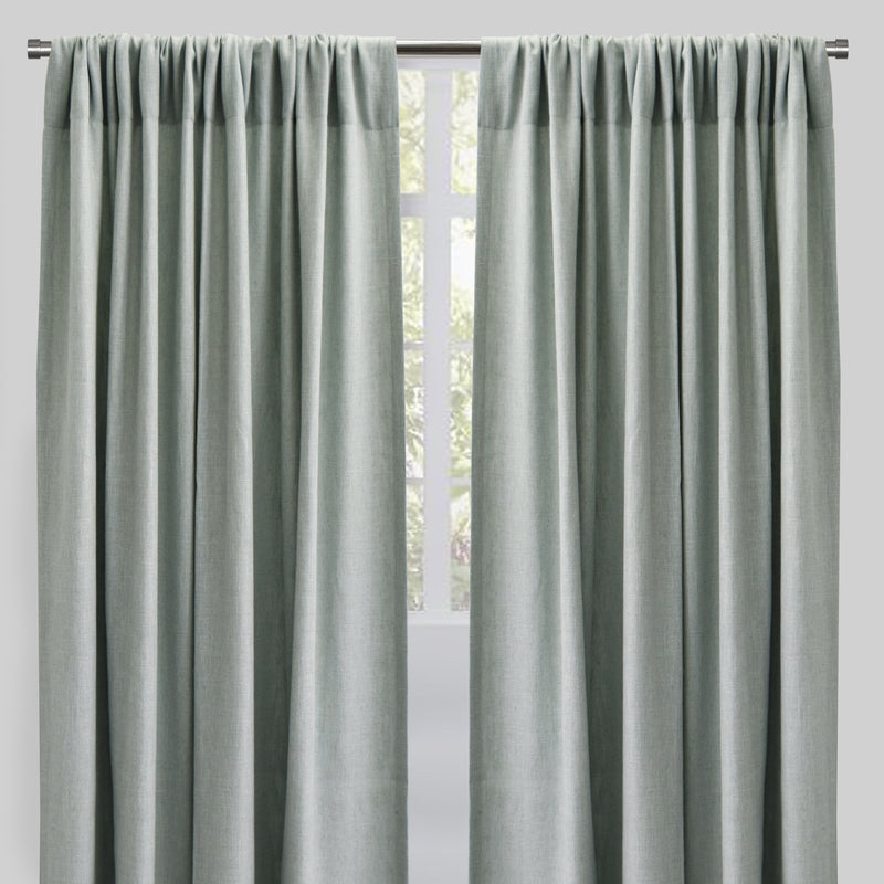 Saint Set of 2 Linen Blend Curtain Panels | Size 54X96 | Color Sage