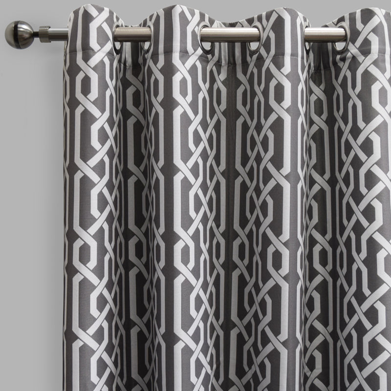 Samba Curtain Panels | Size 54x96 | Color Pewter