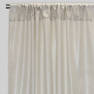 Shanna Set of 2  Linen Look Curtain Panels | Size 54X96 | Color Silver