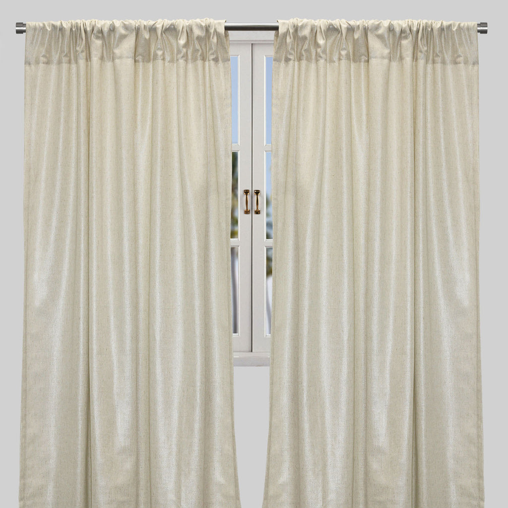 Shanna Set of 2  Linen Look Curtain Panels | Size 54X96 | Color Gold