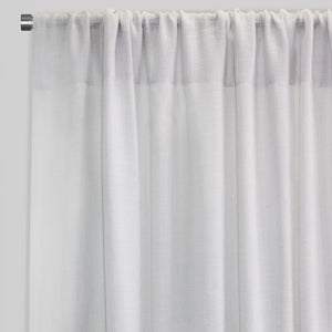 Shira Set of Solid Linen Blend Panels | Size 54X96 | Color White