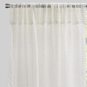 Stormy Set of 2 Sheer Curtain Panels | Size 54X96 | Color White