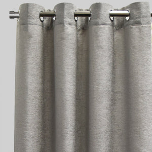 Throne Set of 2 Chenille Curtain Panels | Available Sizes 54X84  | Color Silver
