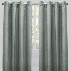 Throne Set of 2 Chenille Curtain Panels | Available Sizes 54X84 & 54X96 | Color Spa