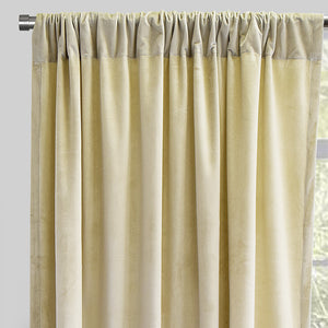 Torino Set of 2 Velvet Curtain Panels | Size 54X84 X 54X96 | Color Cream