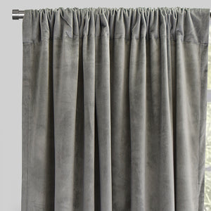 Torino Set of 2 Velvet Curtain Panels | Size 54X84 | Color Silver