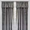 Velluto Set of 2 Velvet Curtain Panels with Valance | Size 54X96 | Color Platinum