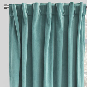 Velluto Curtain Panels | Size 54x96 | Color Tiffany