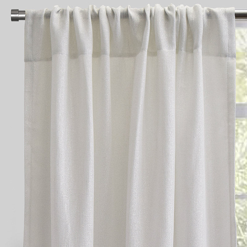 Ziana Set of 2 Sheer Curtain Panels | Size 54X96 | Color Ivory