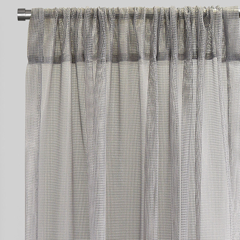 Zone Set of 2 Curtain Panels | Size 54x96 | Color Silver