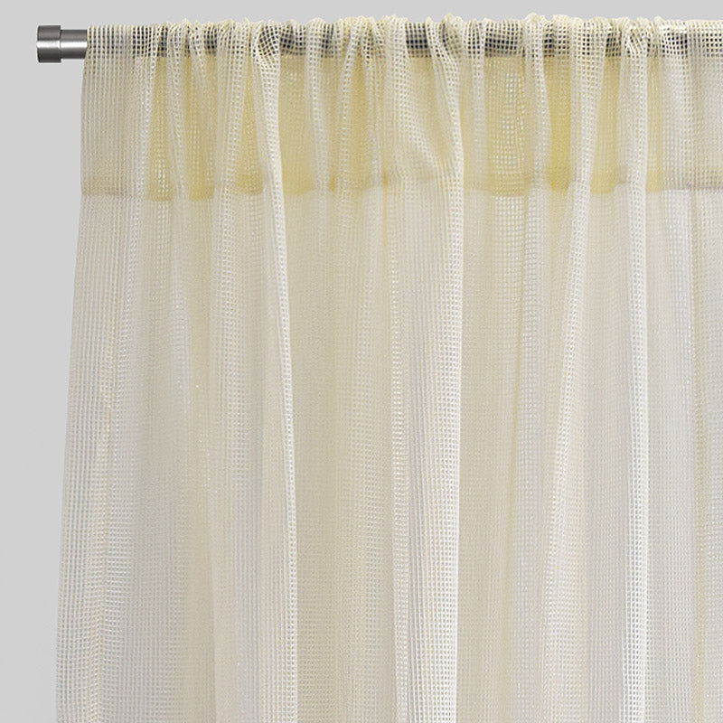 Zone Set of 2 Curtain Panels | Size 54x96 | Color Cream