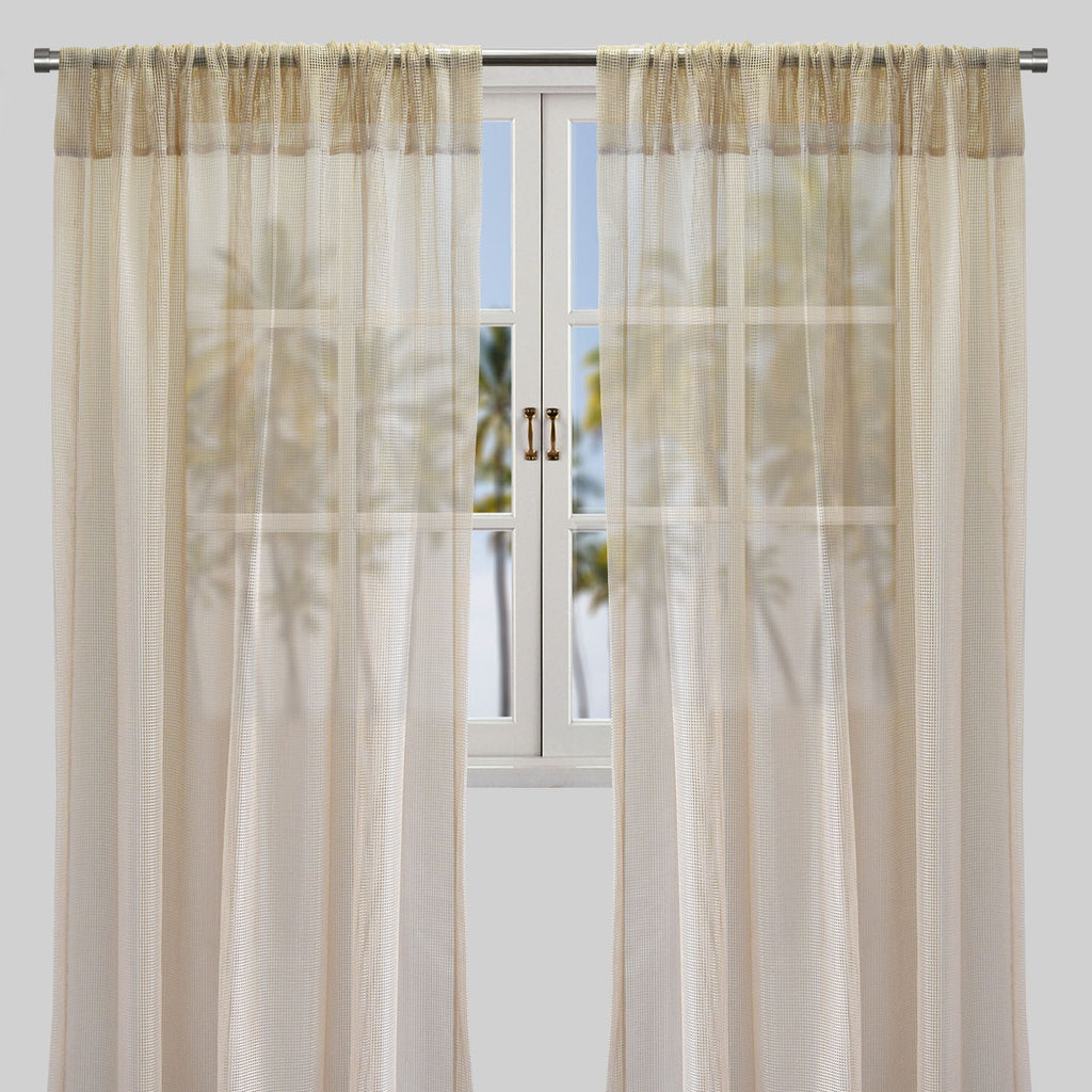 Zone Set of 2 Curtain Panels | Size 54x96 | Color Sand