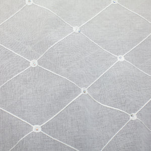 Gallery Fabric | Embroidered Rhinestone Sheer