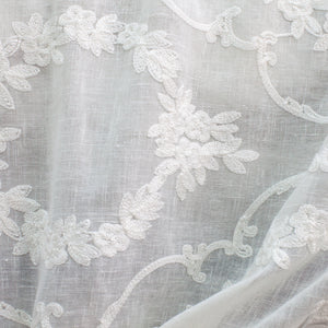 Kelly Fabric | Embrodiered Sheer