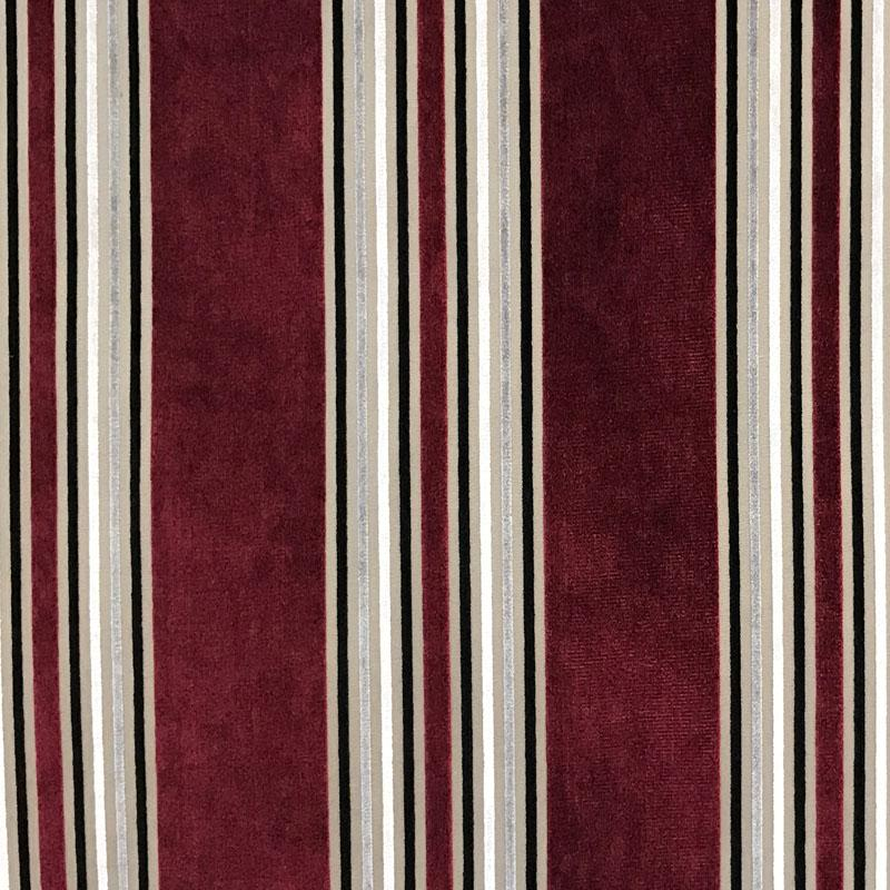 Kira Fabric | Striped Multicolor Velvet