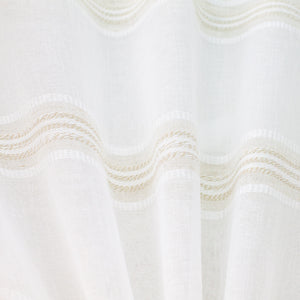Leila Fabric | Embroidered Stripe Sheer