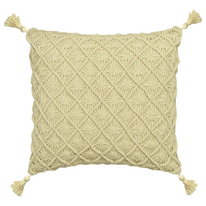 Macrame Pillows | Size 18X20 | Color Ivory