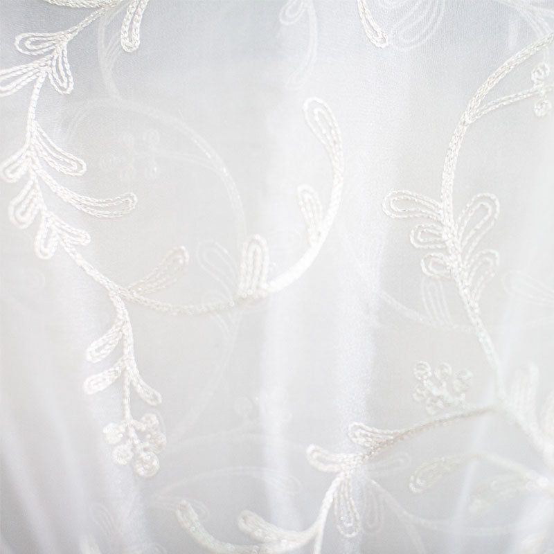 Park Fabric | Embroidered Metallic Sheer
