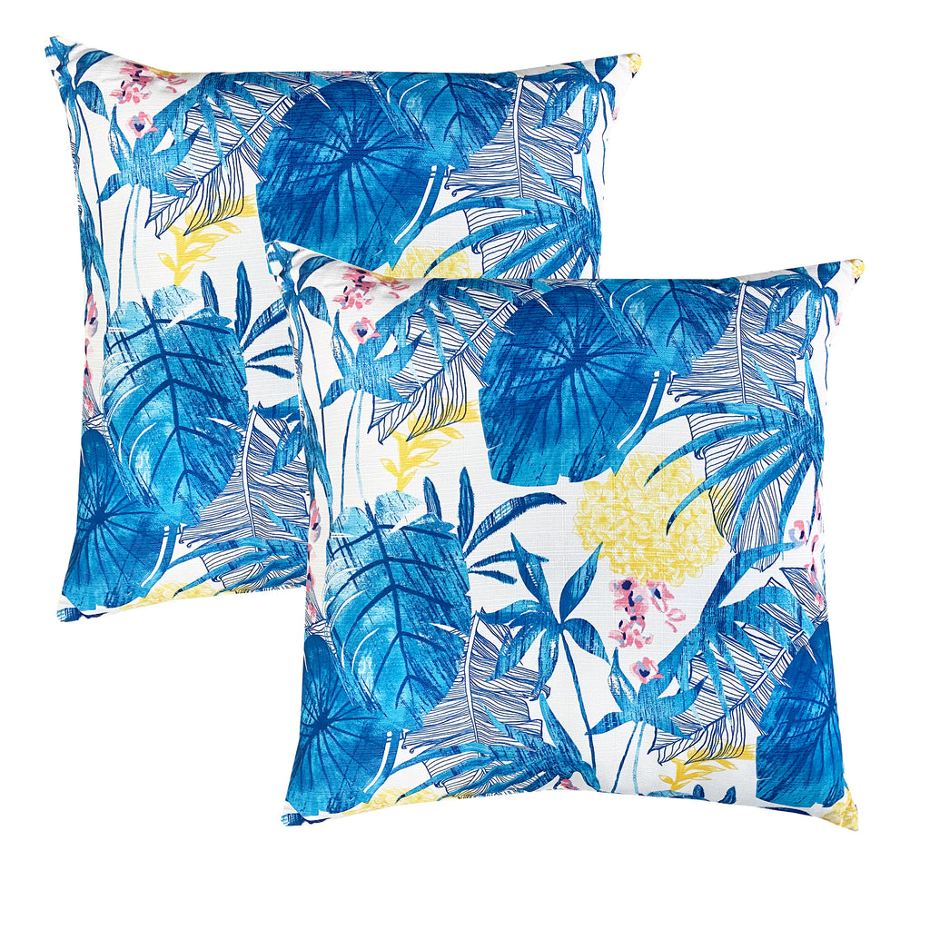Capistrano Pillow | Size 20X20 | 2-Pack | Color Blue