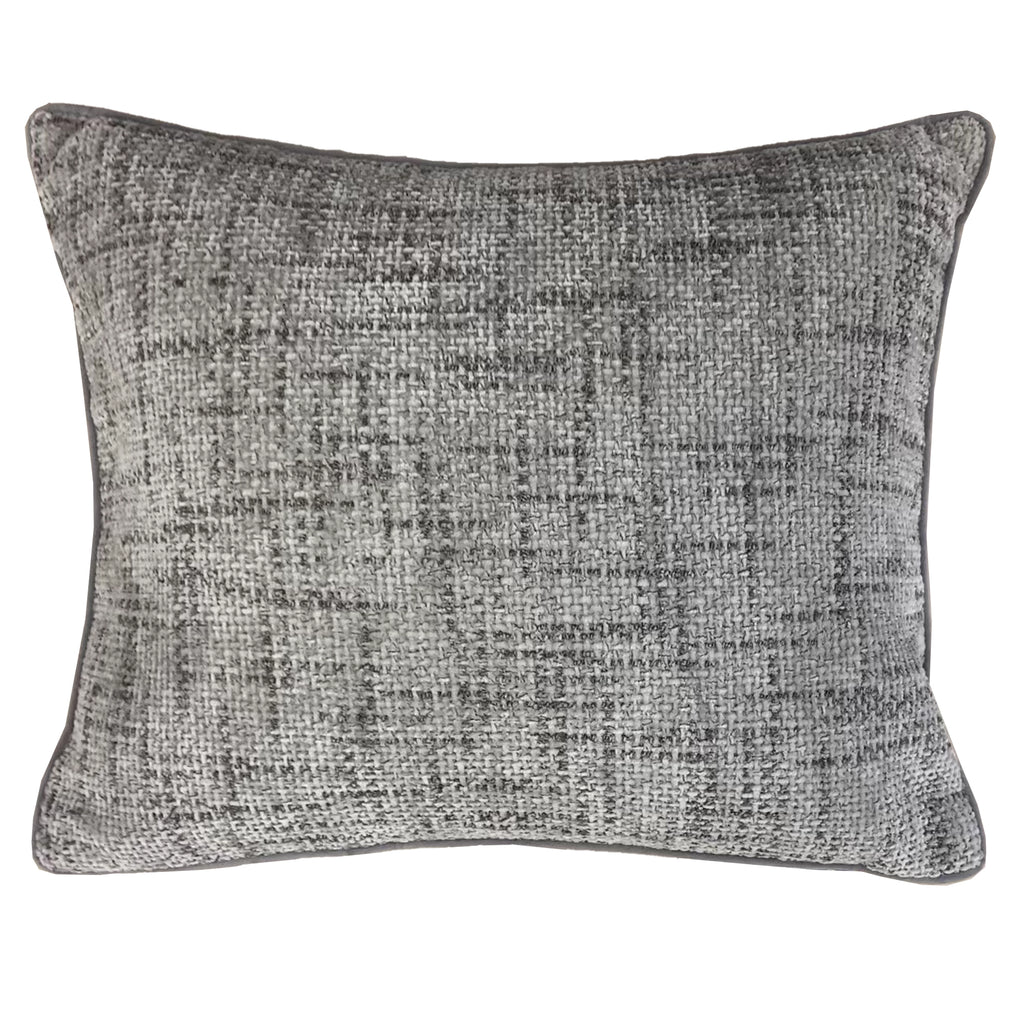 Claudia Pillows | Size 18X22 | Color Pewter