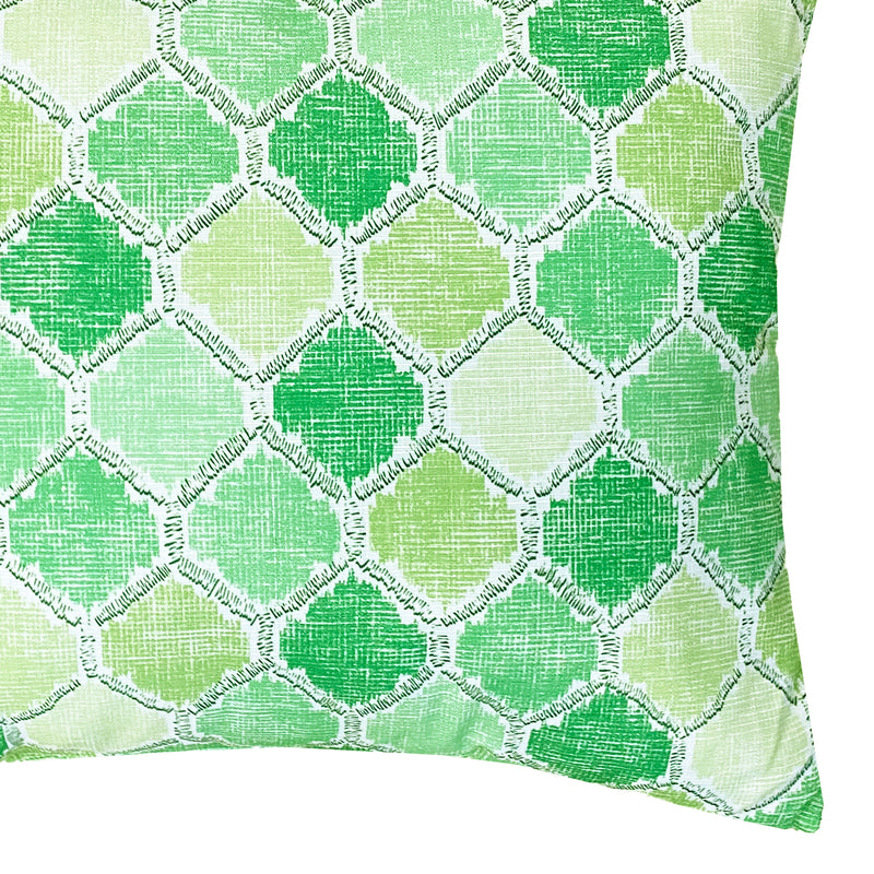 Daytona Pillow | Size 20X20 | 2-Pack | Color Green