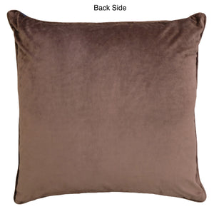 Diamo Pillow | Size 24X24 | Color Chocolate
