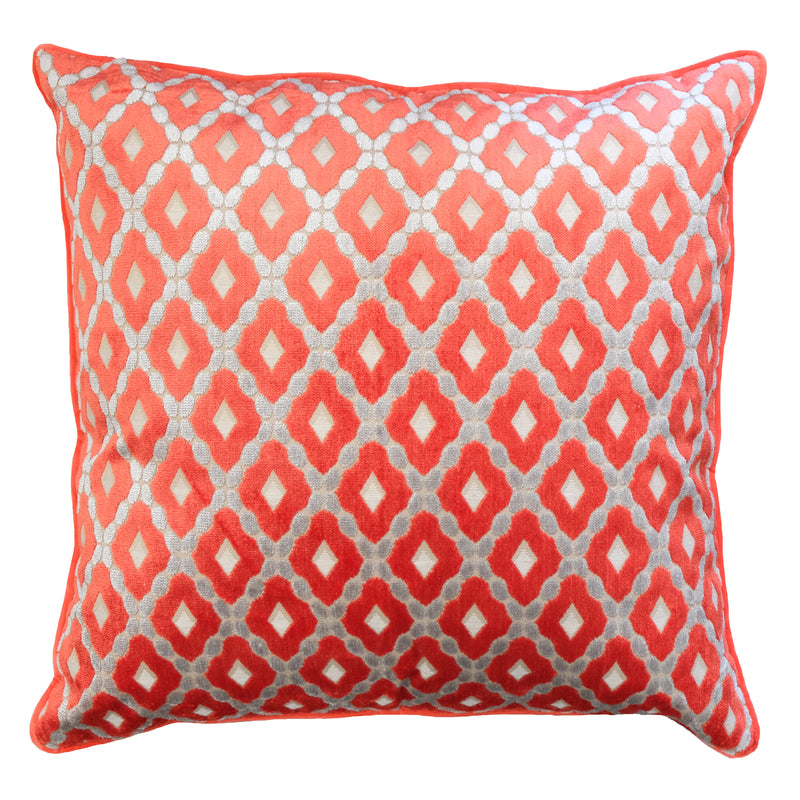 Diego Pillows | Size 24X24 | Color Orange
