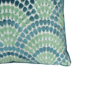 Lennix Pillow | Size 24X24 | Color Peacock