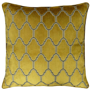 Alaya Pillows | Size 23X23 | Color Gold - Rodeo Home