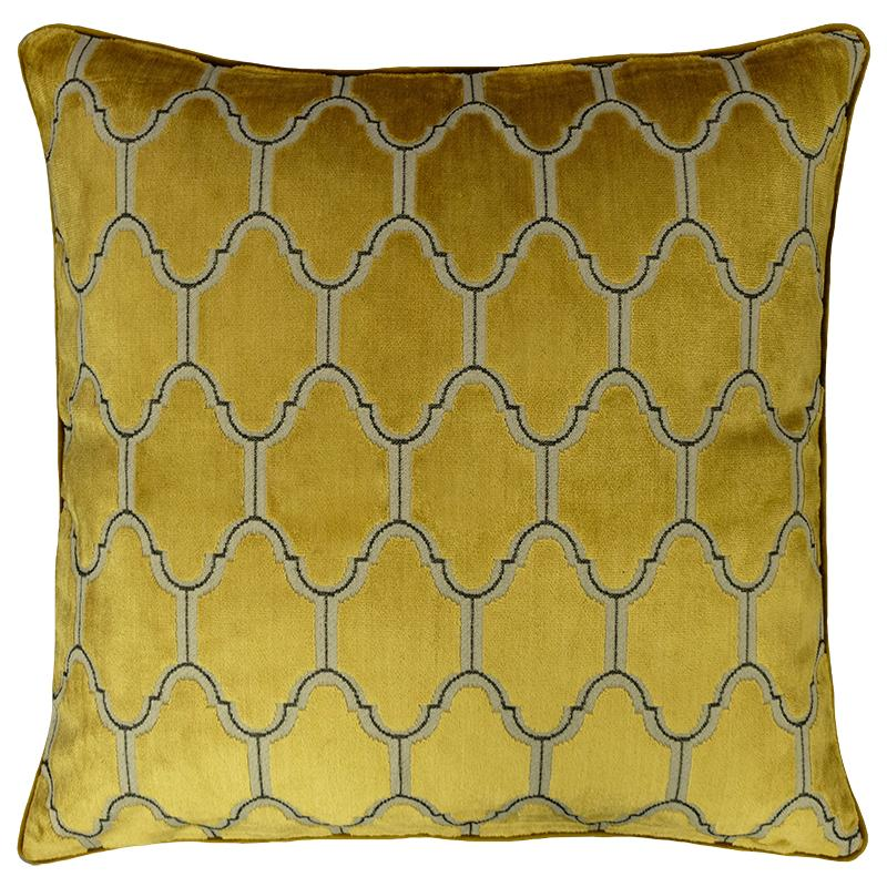 Alaya Pillows | Size 23X23 | Color Gold