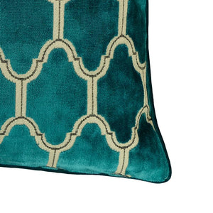 Alaya Pillows | Size 23X23 | Color Turquoise