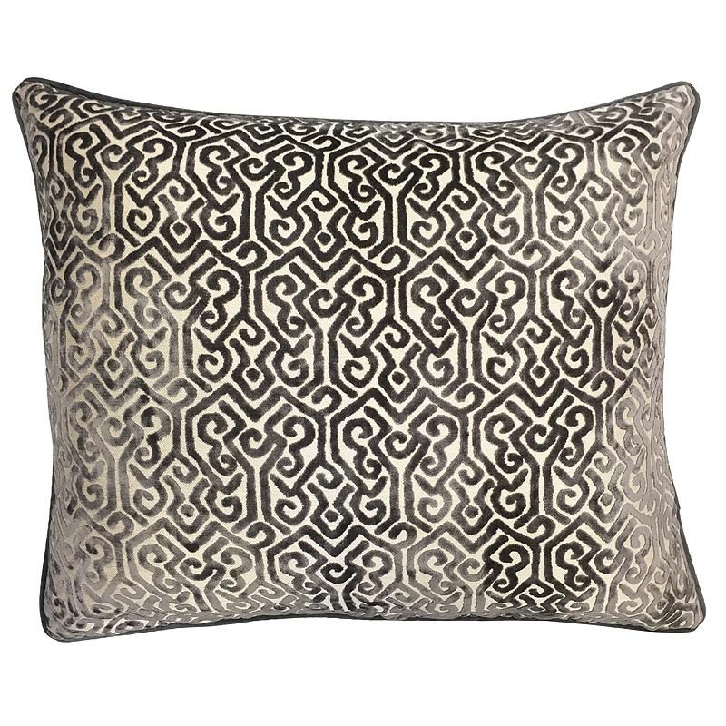 Alexandra Pillow | Size 22X22 | Color Gray