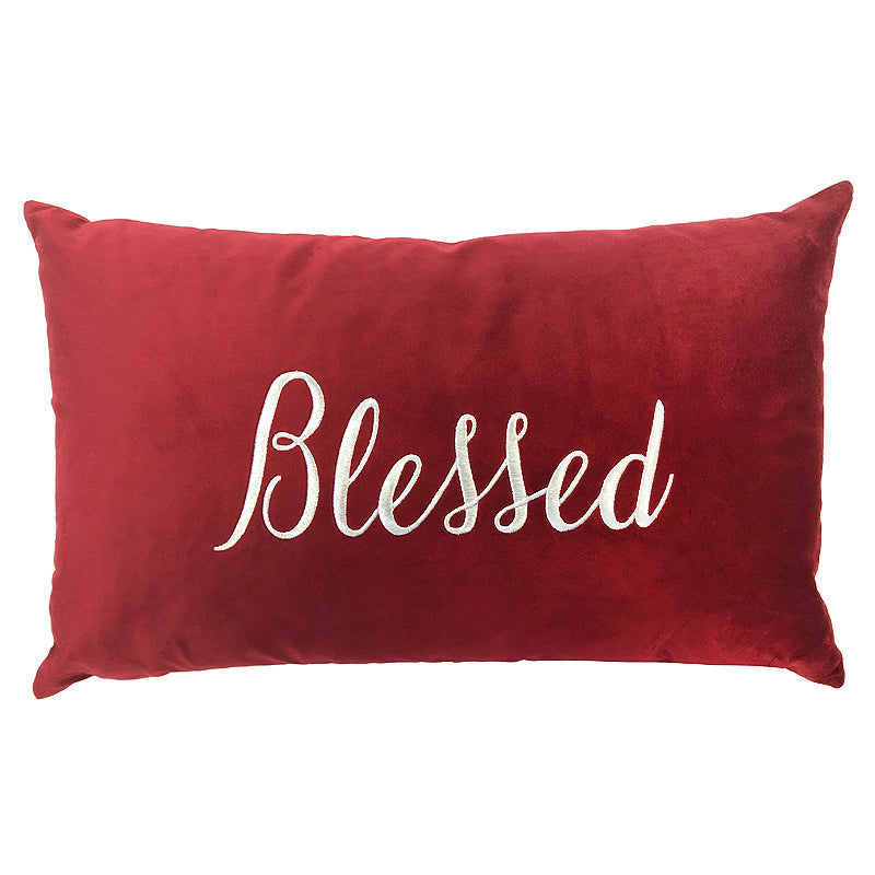 Blessed Pillow | Size 16X26 | Color Red