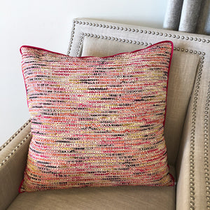 Bradshaw Pillow | Size 24x24 | Color Magenta