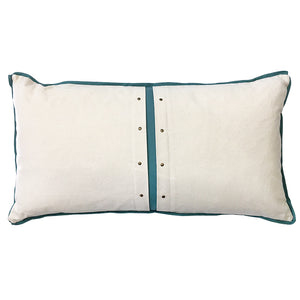 Caine Pillow | Size 14x27 | Color Natural/Spa